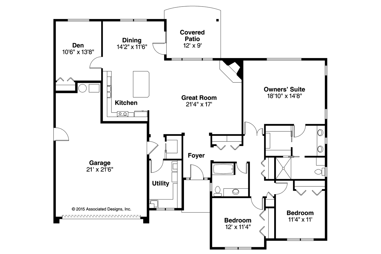 Prairie style house plans lexington 30 989 associated for Prairie floor plans