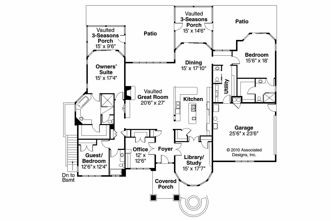 Prairie style house plans metolius 30 746 associated Prairie house plans