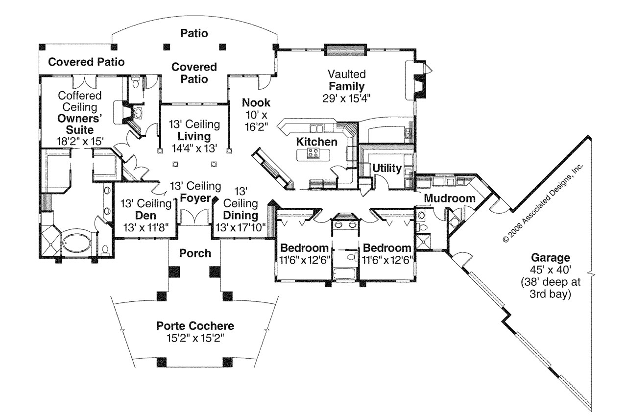 prairie style house plans - westfair 30-445 - associated designs