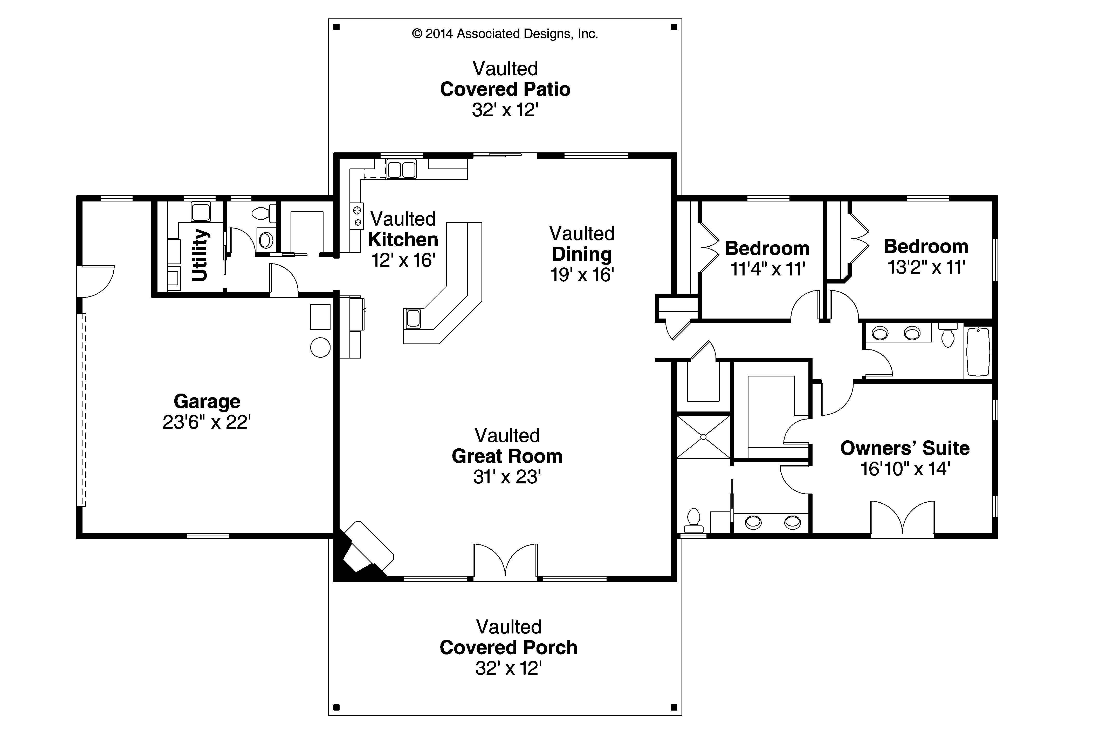 Ranch House Plan   Anacortes 30 936   Floor Plan ...