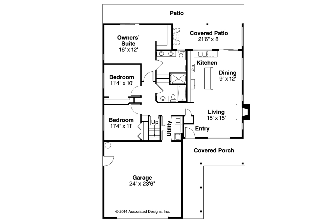 Ranch house plans belmont 30 945 associated designs for Floor plans with pictures