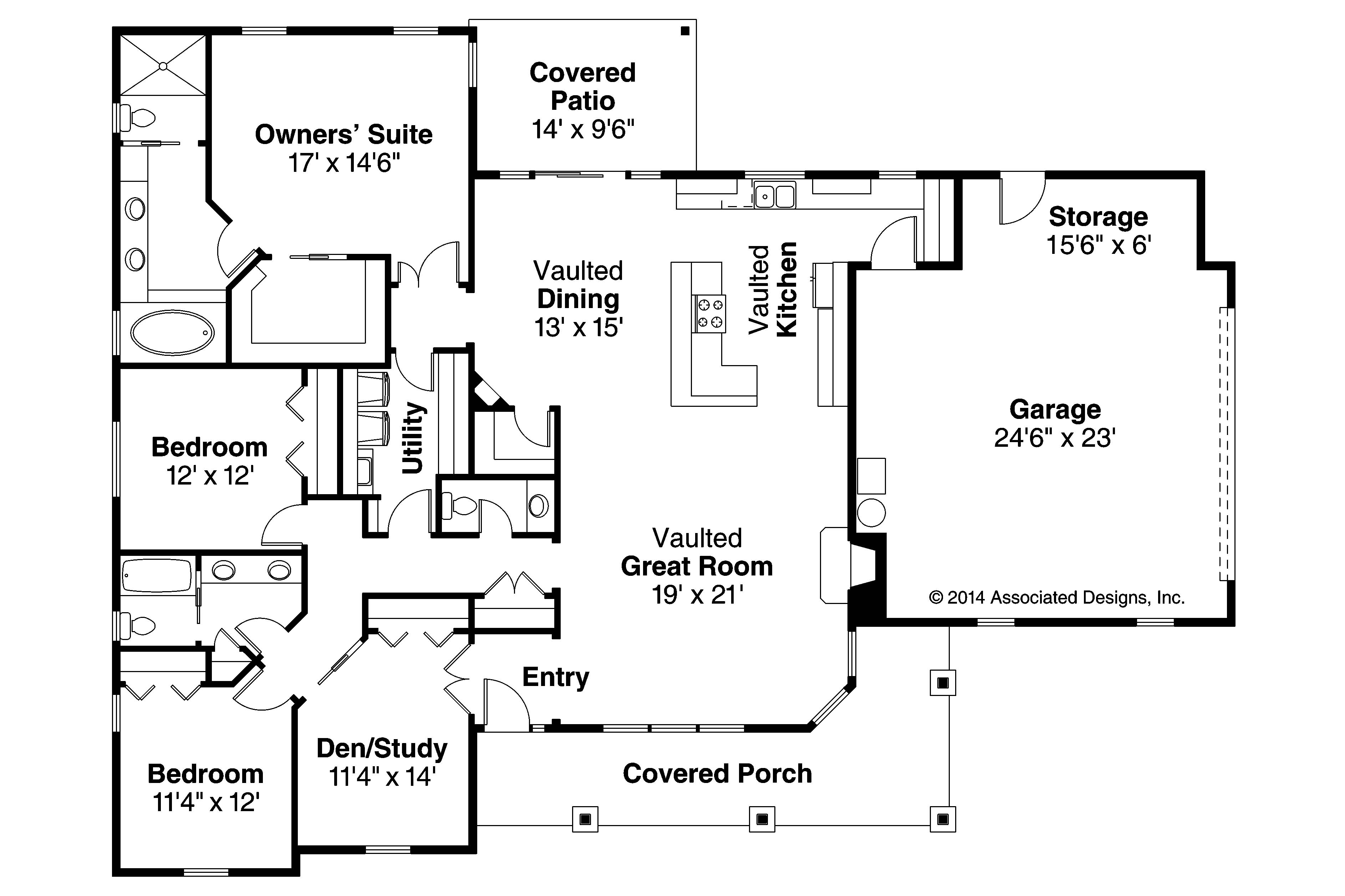 Ranch house plans brightheart 10 610 associated designs for House floor plans