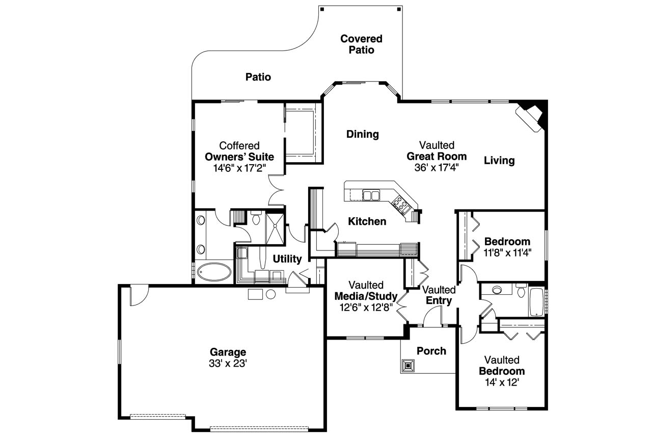 Ranch house plans chadbryne 30 577 associated designs for Ranch home designs floor plans