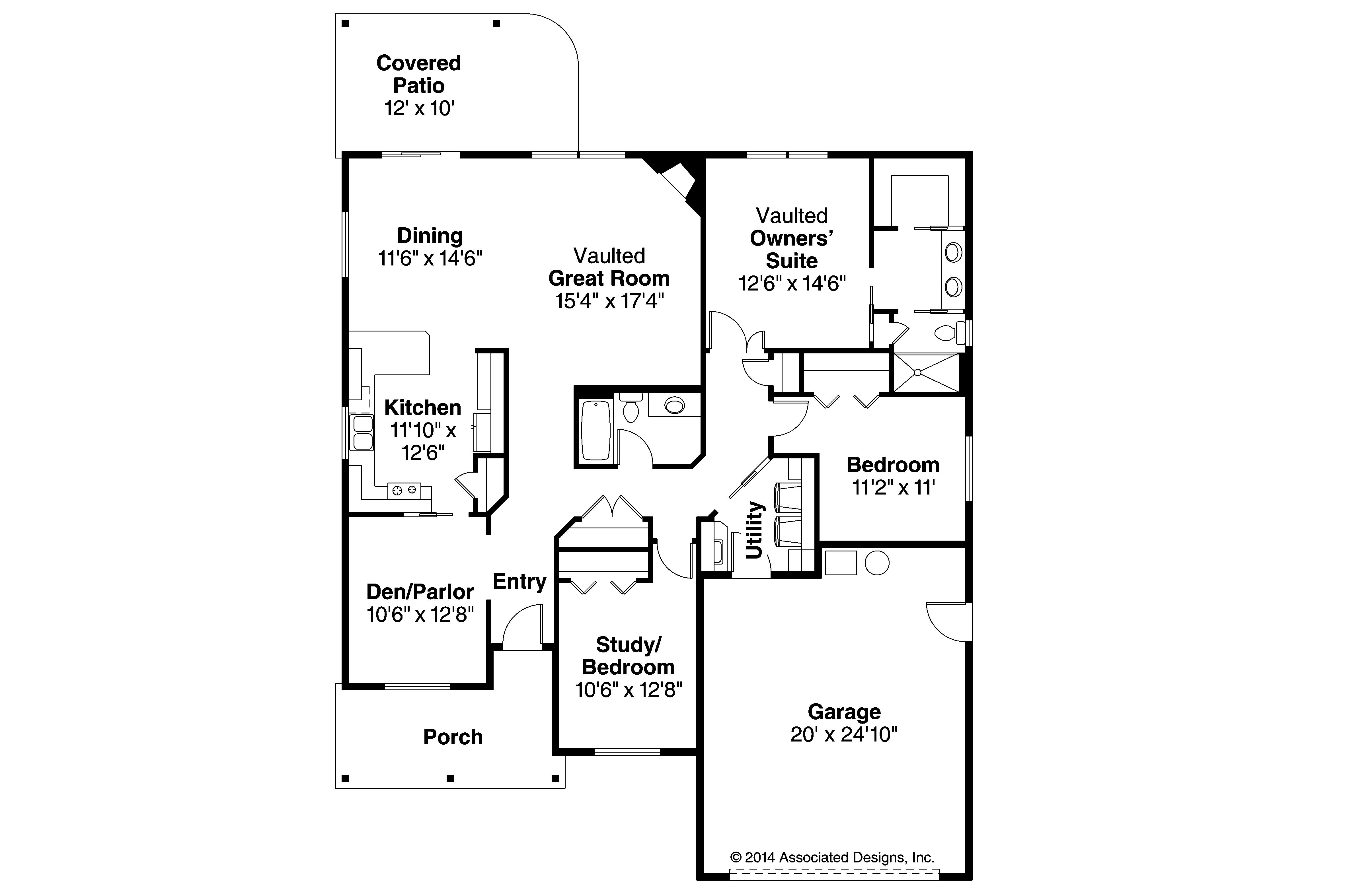 Ranch house plans eastford 30 925 associated designs for House layout plan