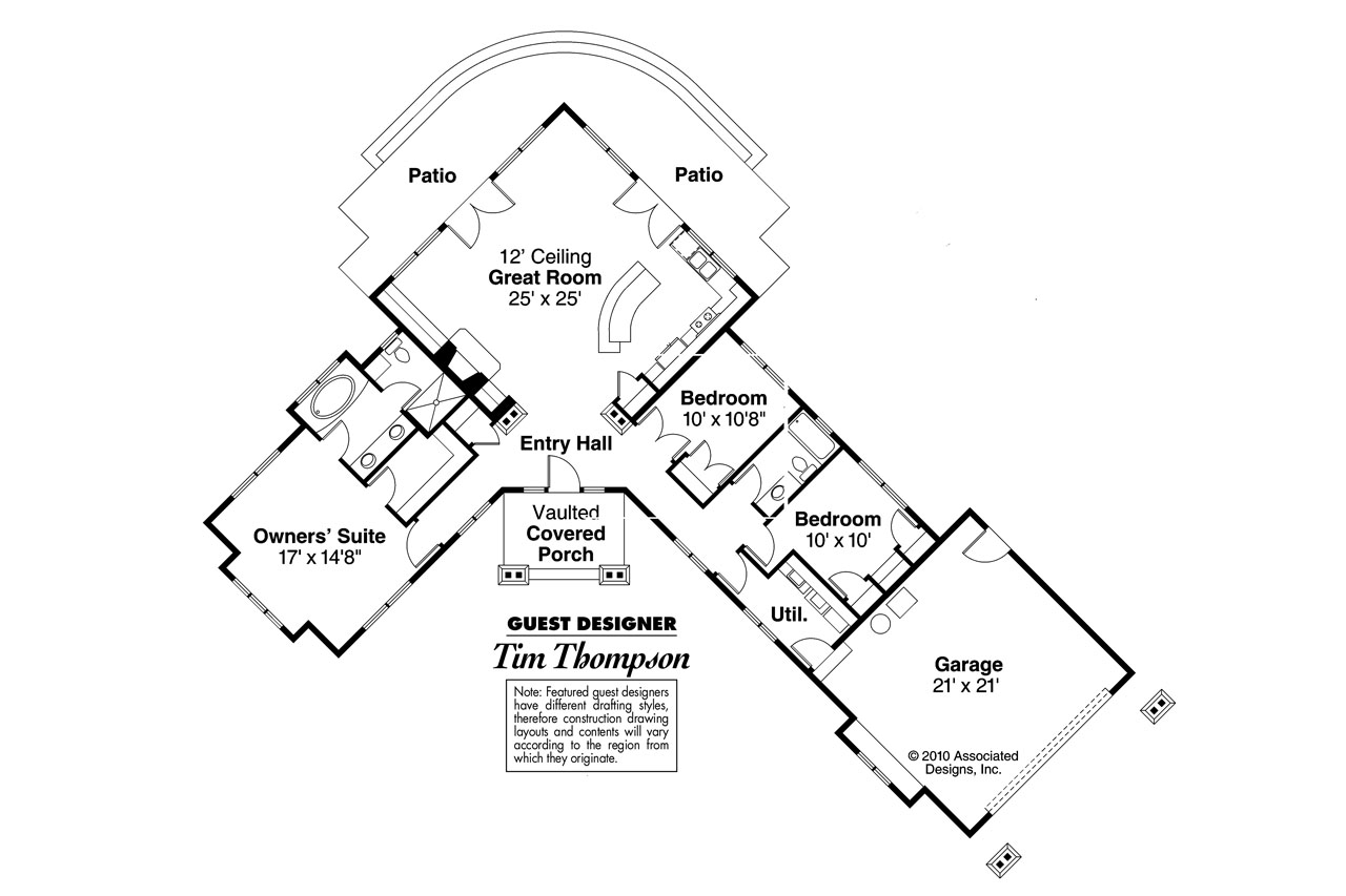 Ranch house plans heartview 50 015 associated designs for House plans with a view