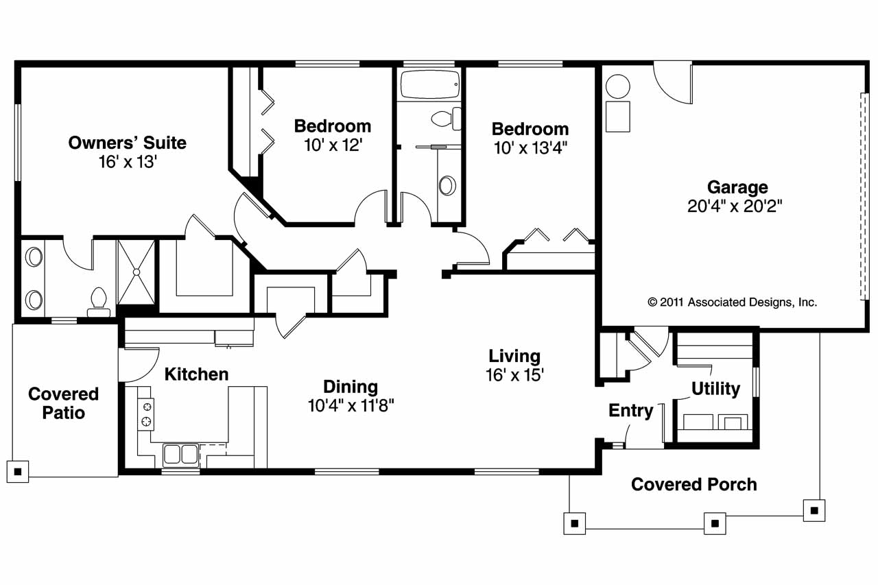 Floor Plans With Ranch House Plans At Eplans Com House And Floor Pl ...