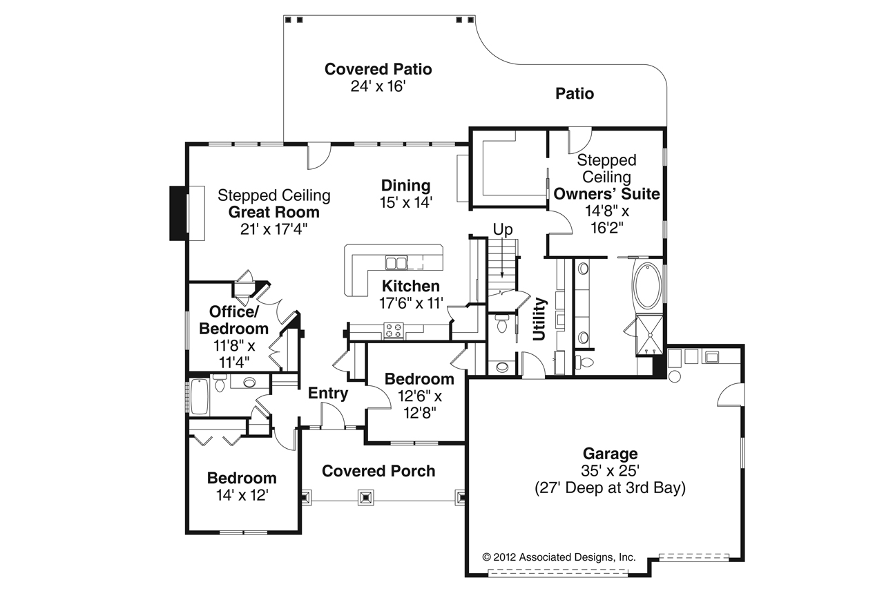 3 bedroom house plans with bonus room good house plan wg for Ranch floor plans with bonus room