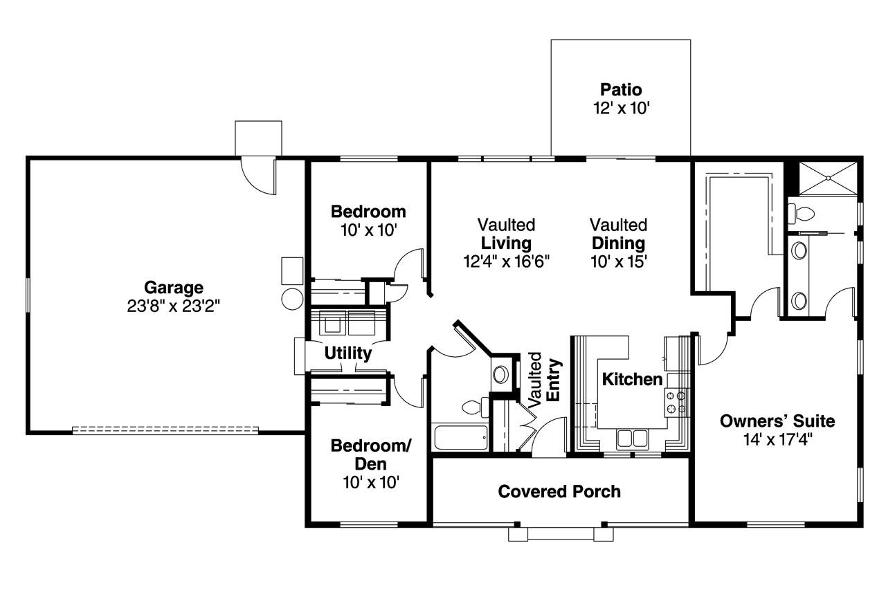 Ranch house plans mackay 30 459 associated designs for One level ranch home floor plans