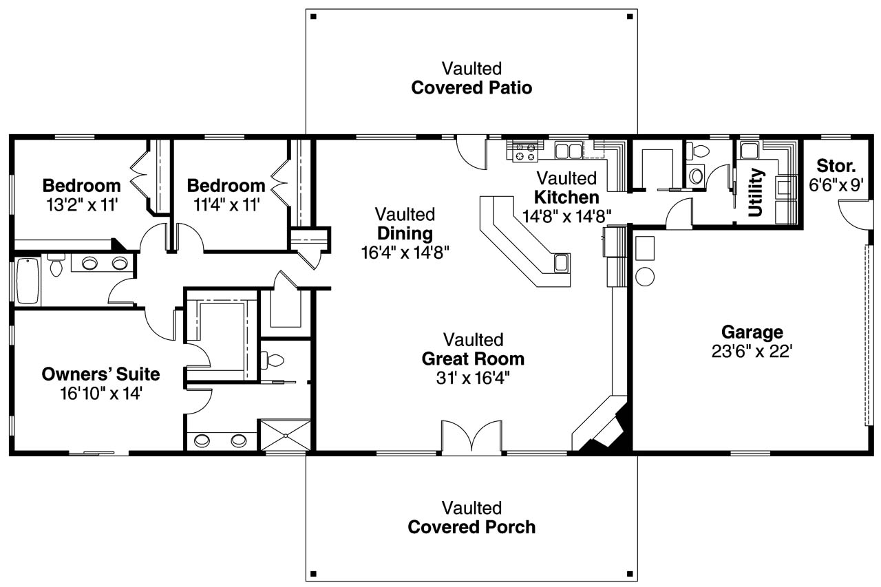 Ranch house plans ottawa 30 601 associated designs Texas ranch floor plans