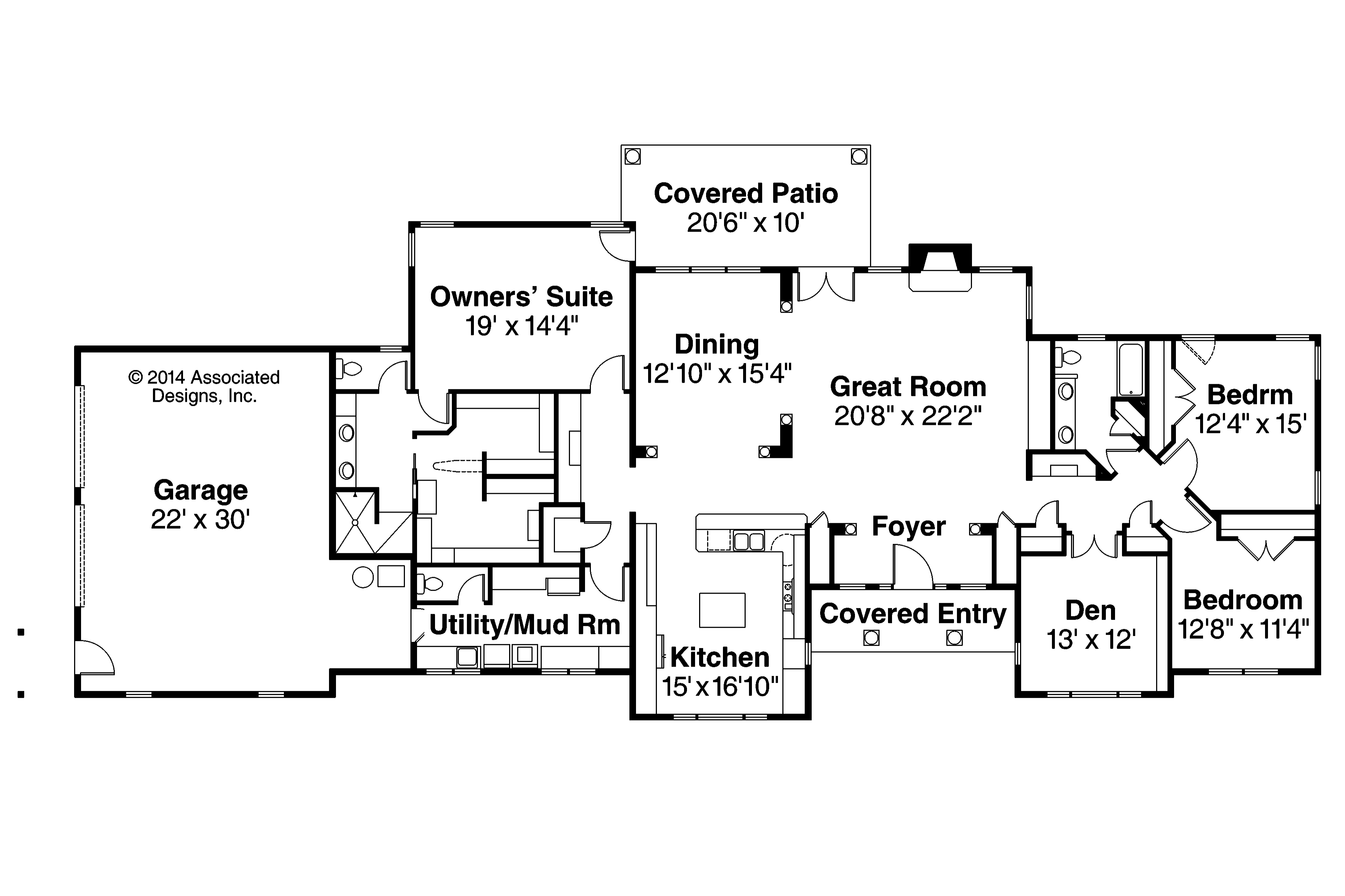 Ranch Plans One Story Ranch House Plans On 4 Bedroom Ranch Floor