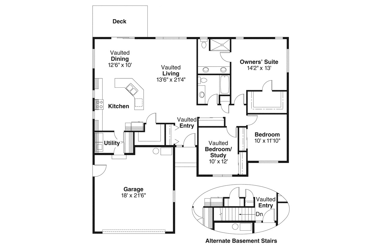 Ranch house plans rexburg 30 068 associated designs - Home plans with large kitchens ...