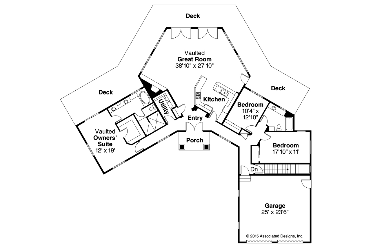 Ranch house plans silvercrest 11 143 associated designs for Right angle house