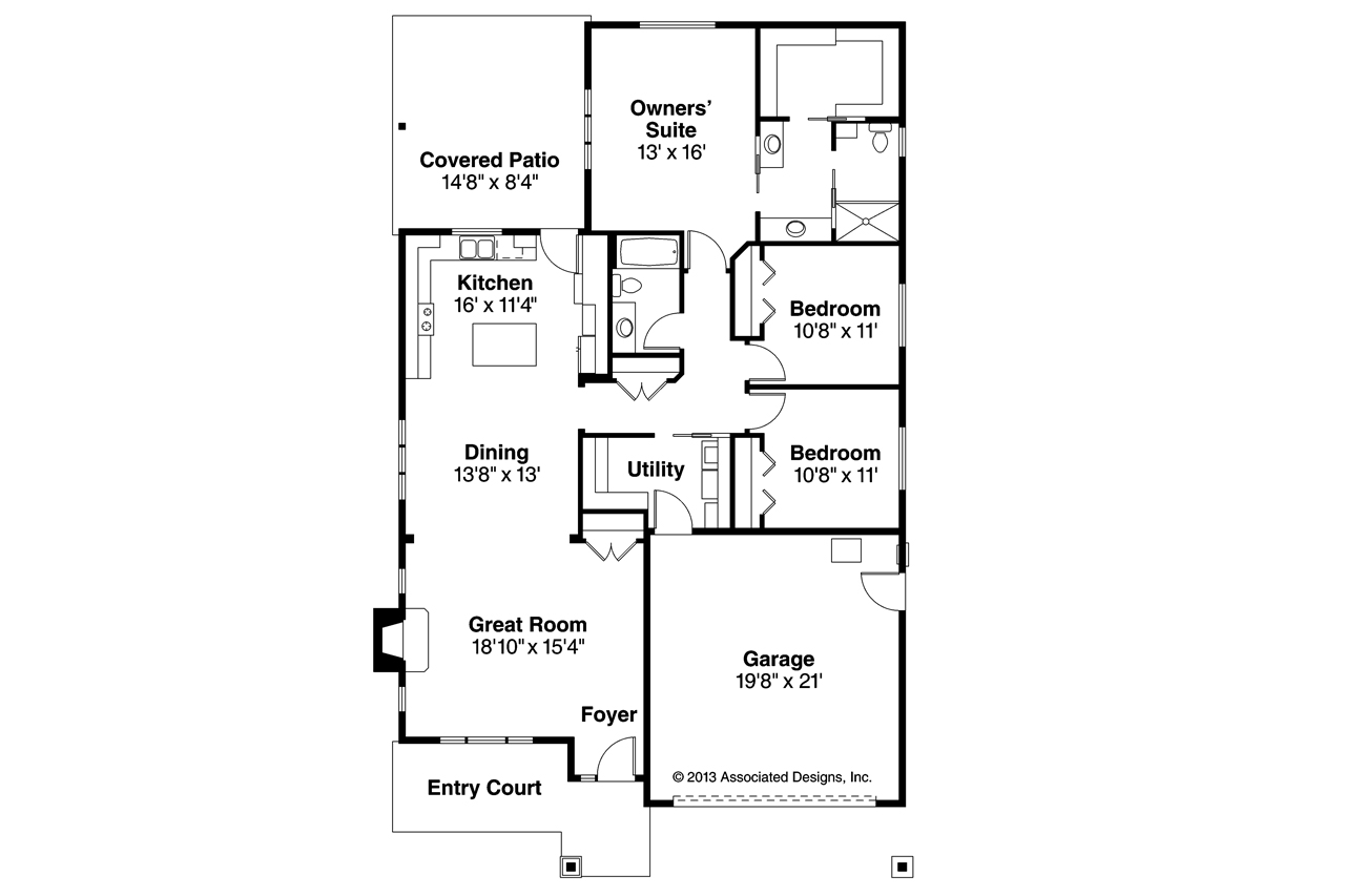 Shingle style house plans pine creek 30 885 associated for Shingle house plans