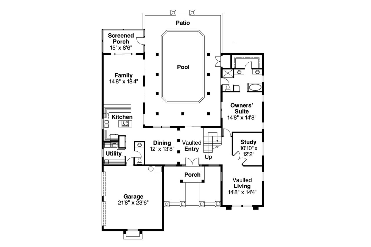 Southwest house plans roswell 11 086 associated designs for Southwest home floor plans