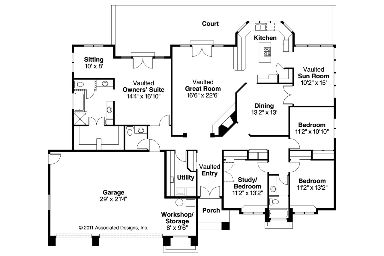 Southwest house plans cibola 10 202 associated designs for Southwest homes floor plans