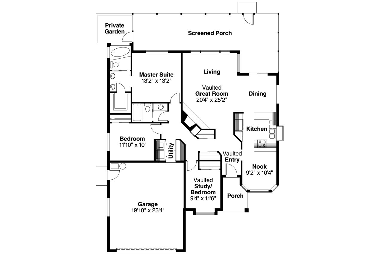 Spanish style house plans arcadia 11 003 associated for Spanish style home floor plans