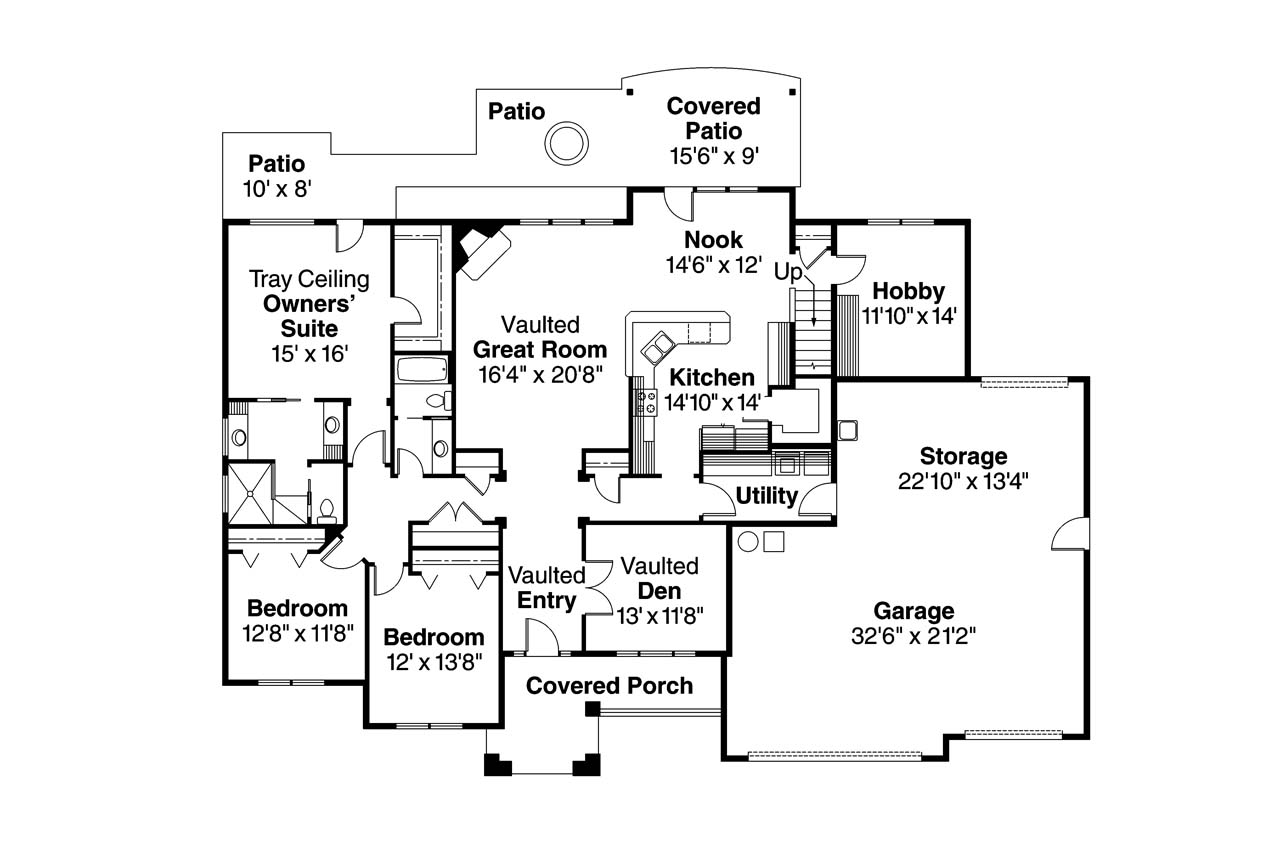 Traditional house plans abbington 30 582 associated for Traditional floor plans
