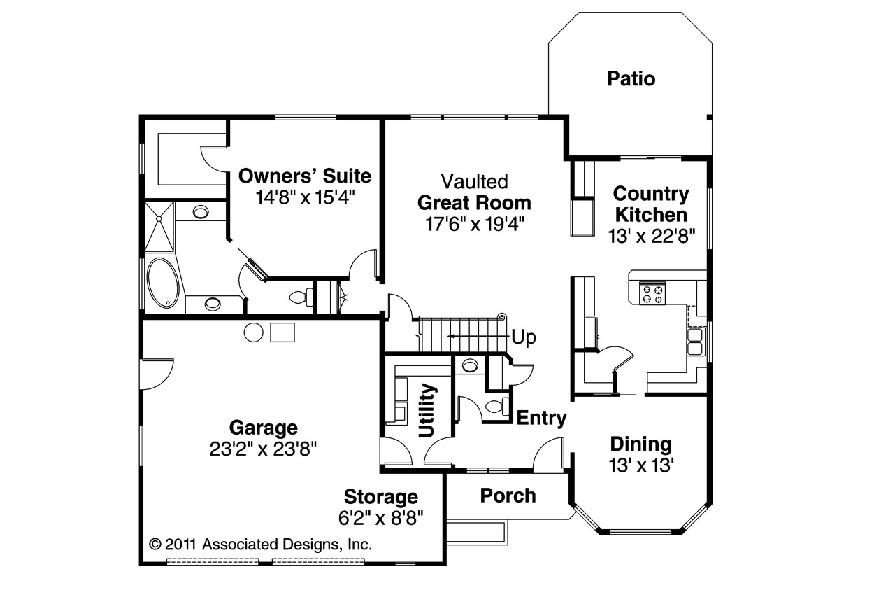 Traditional House Plans Albany 30 047 Associated Designs