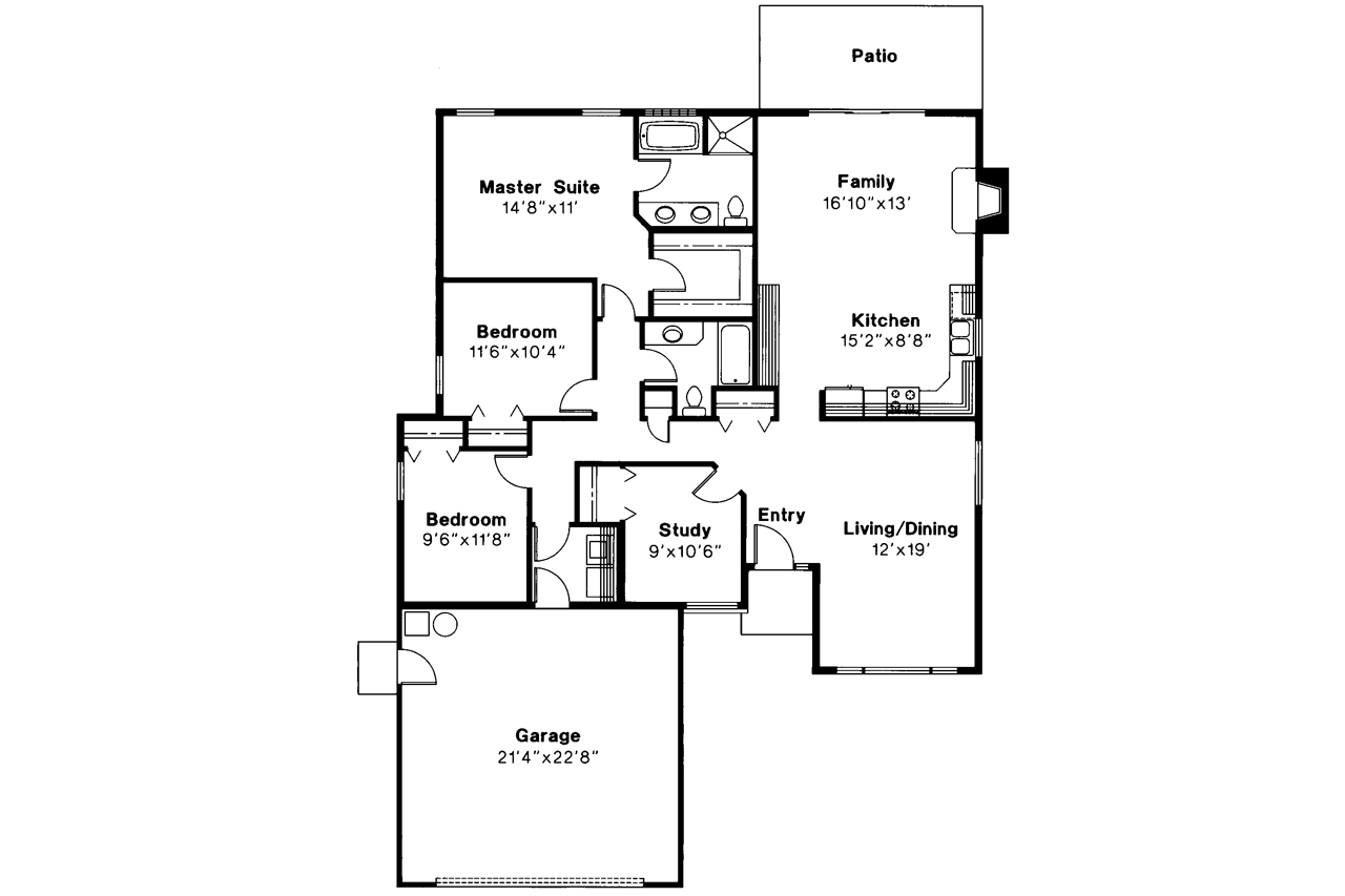 Traditional house plans briggsdale 30 084 associated for Traditional house floor plans