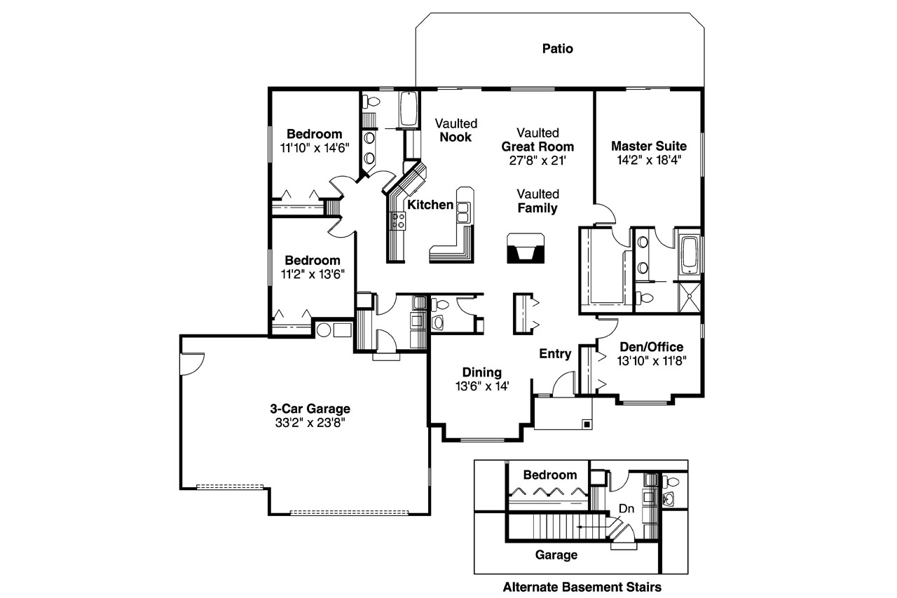 Traditional house plans clarkston 30 080 associated for Traditional floor plans