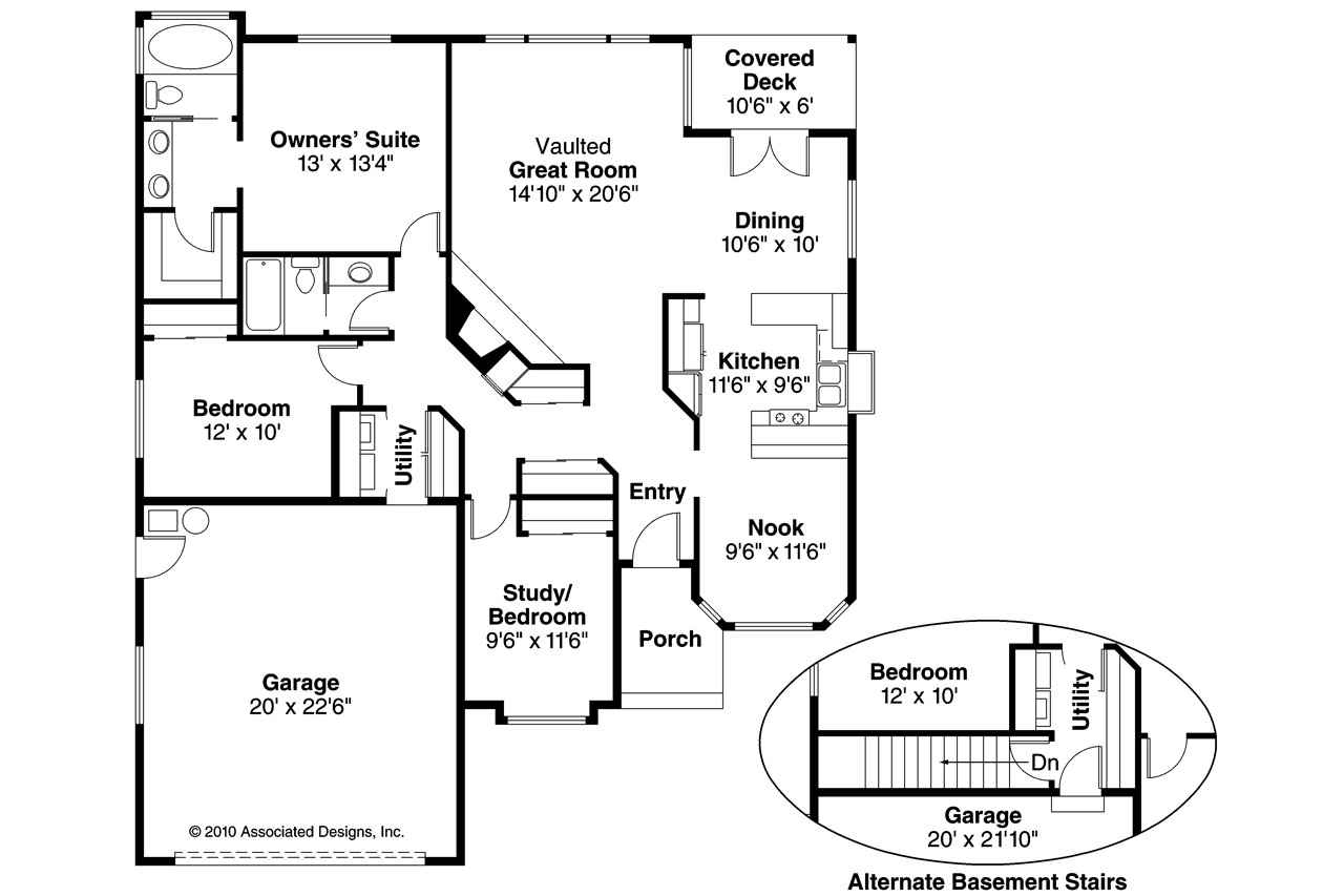 Traditional house plans danforth 10 004 associated designs for Traditional home floor plans