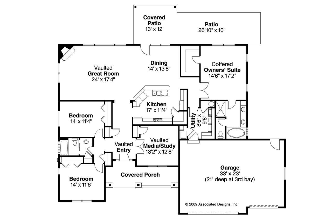 Traditional House Plan   Green Valley 70 005   Floor Plan ...