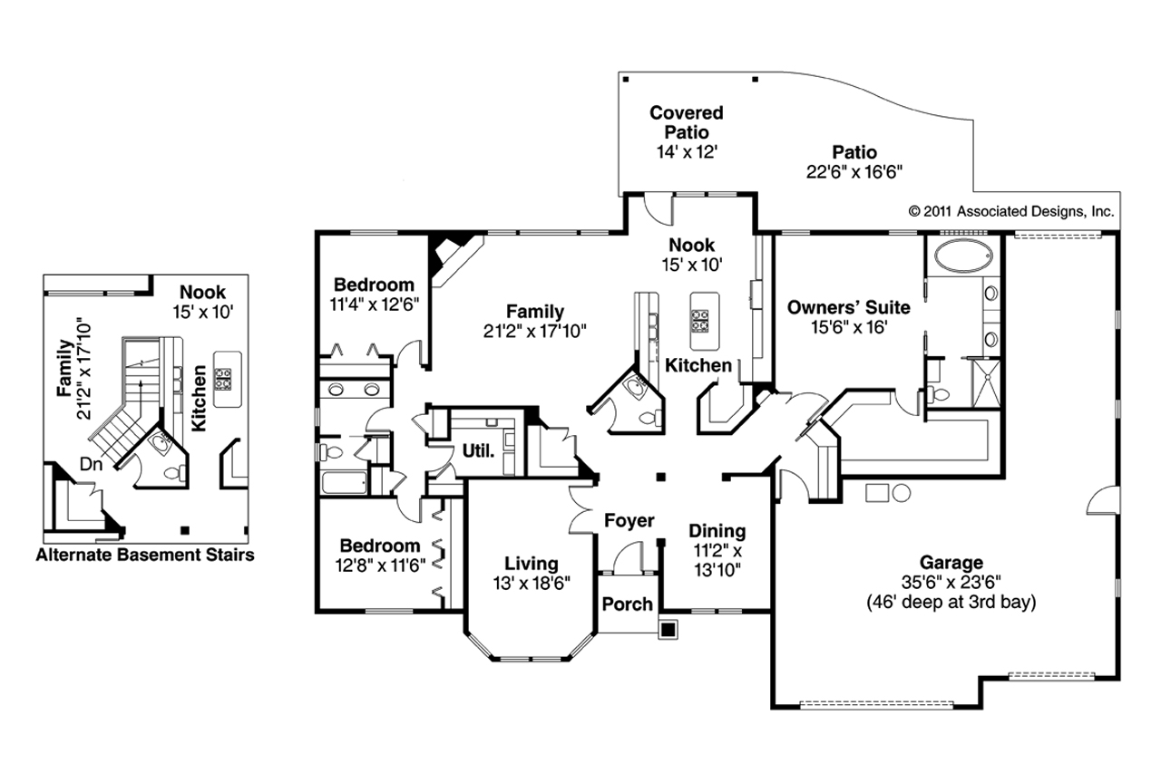 Traditional House Plans Hollyview 30 554 Associated