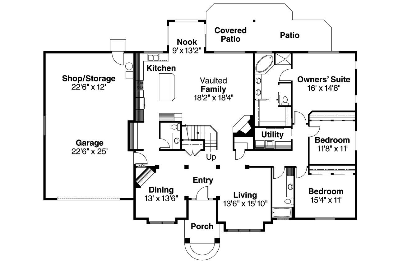 Traditional house plans vicksburg 30 567 associated for Www home plan