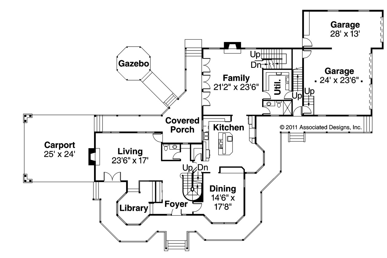 victorian house plan victorian 10 027 1st floor plan - Victorian House Design