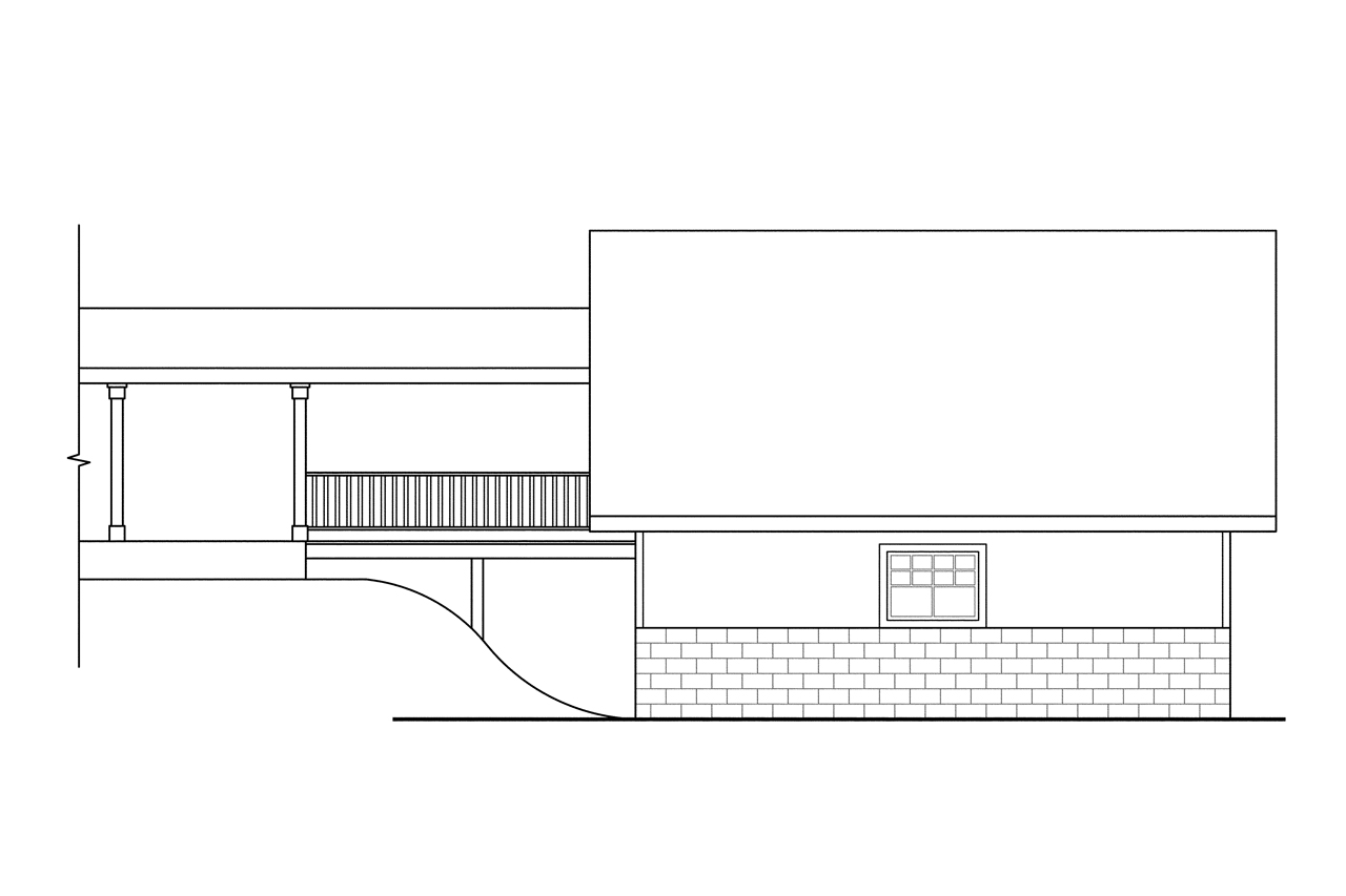 Plan And Elevation Of Car : Country house plans garage w storage associated
