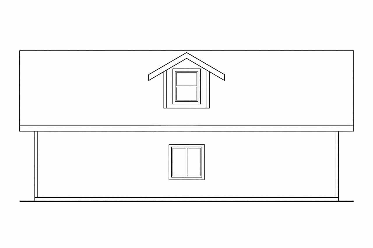 Plan And Elevation Of Car : Traditional house plans garage w bonus