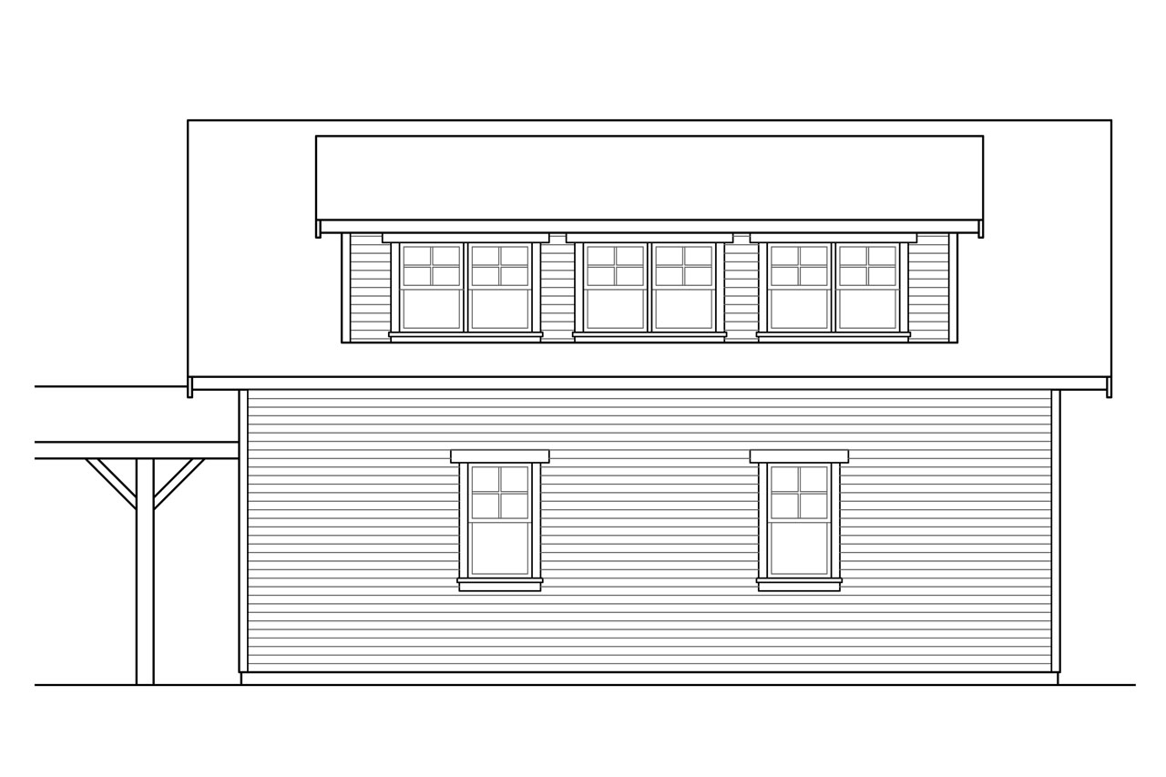Plan And Elevation Of Car : Country house plans garage associated designs