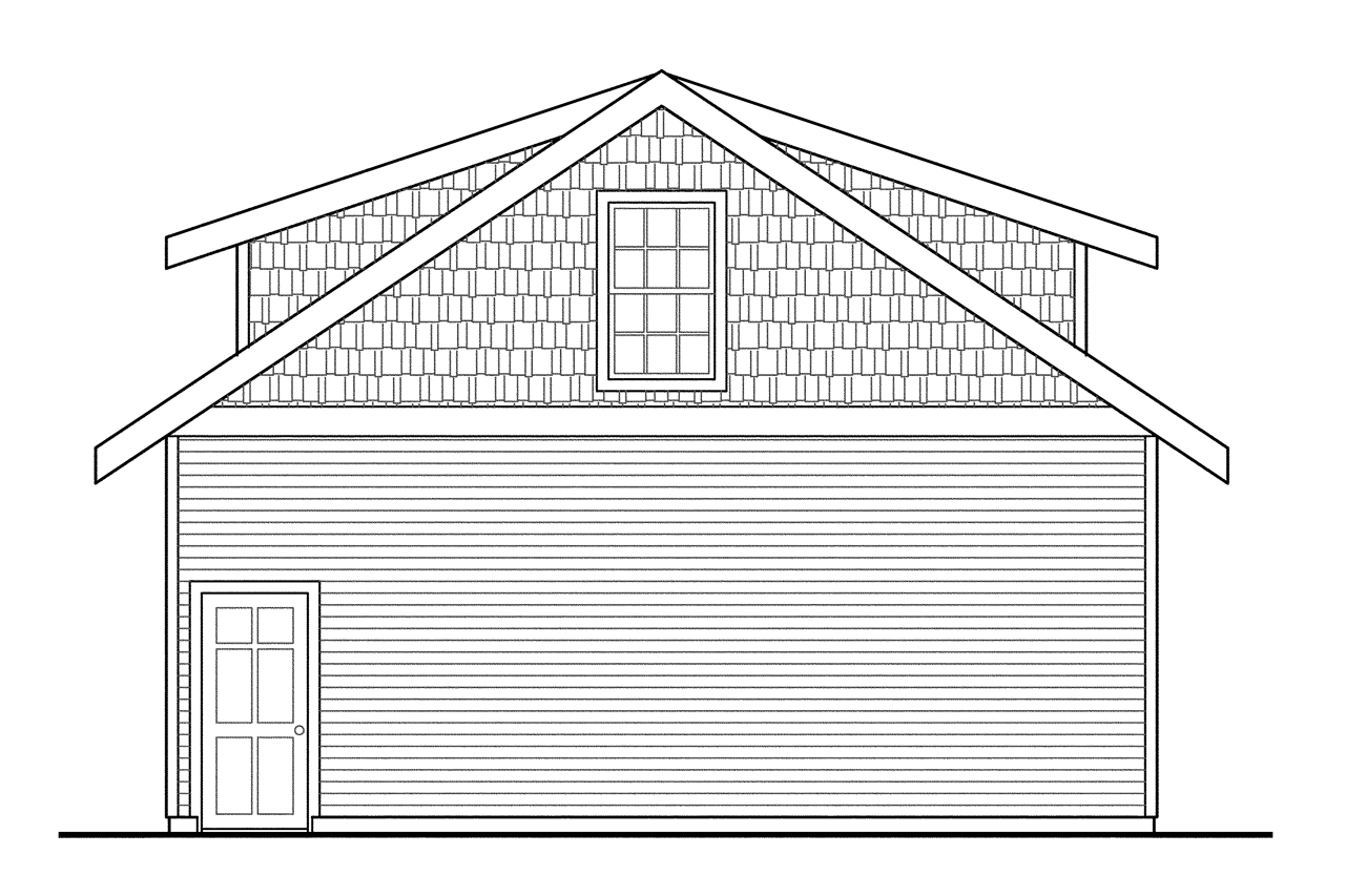 Story garage plan 20 049 right elevation