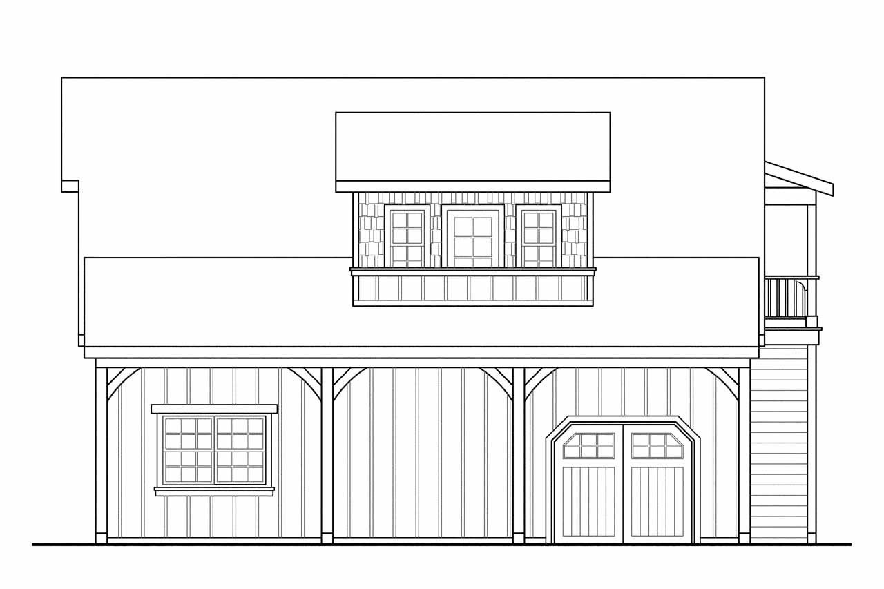 Craftsman house plans 2 car garage w loft 20 077 for 2 story workshop plans