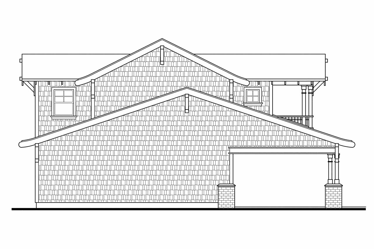 Bungalow House Plans Garage W Apartment 20 052