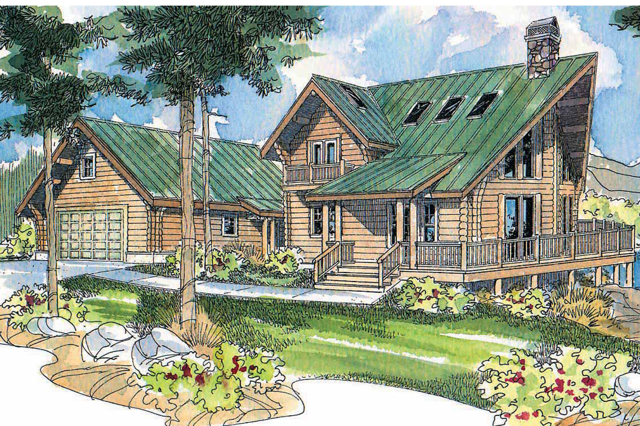 A frame house plans stillwater 30 399 associated designs Cabin plans with garage
