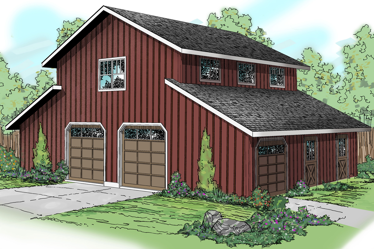 Country house plans barn 20 059 associated designs for Garage style homes