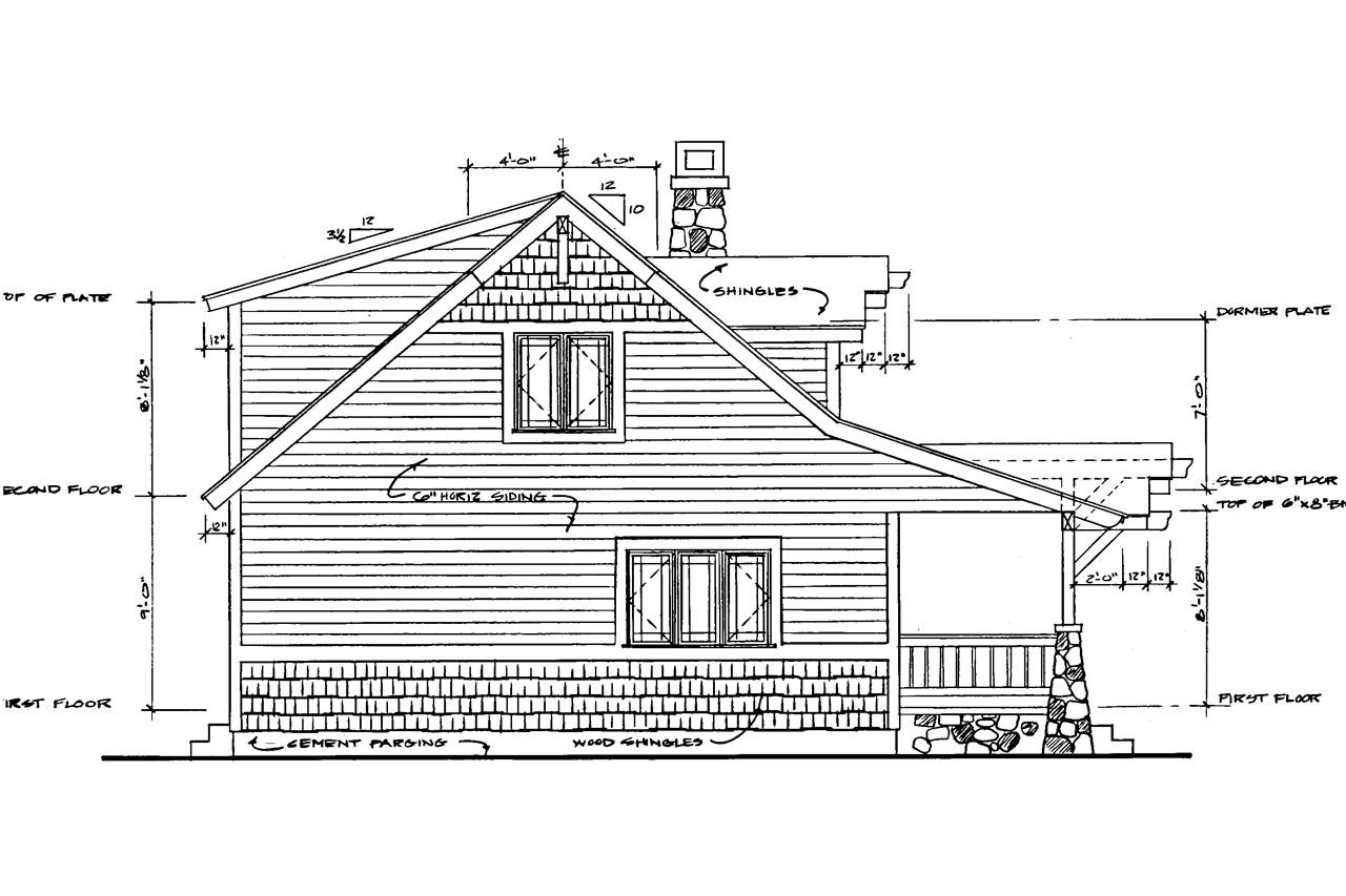 Bungalow Elevation Plan : Craftsman house plans absecon associated designs