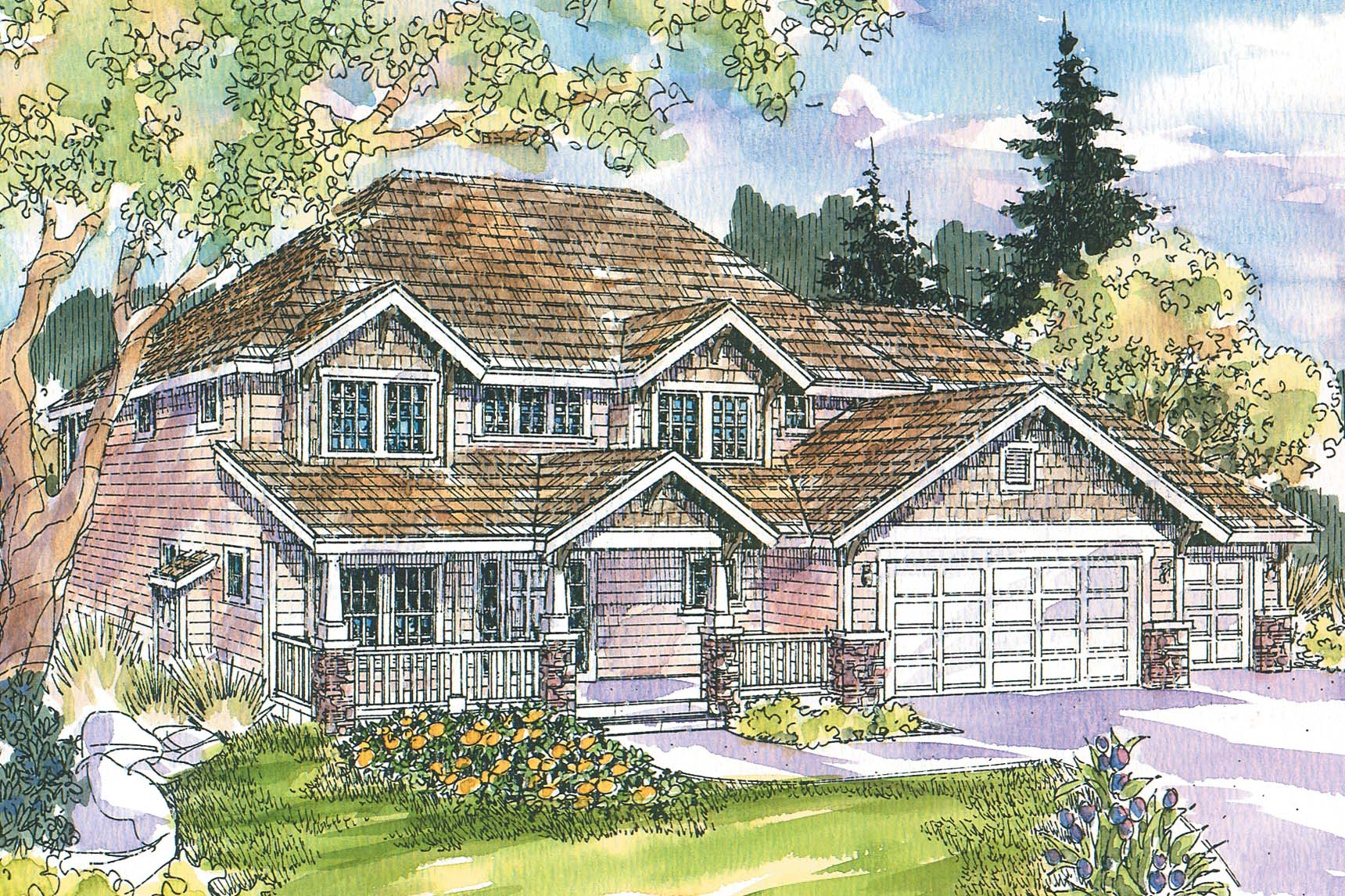 Bungalow Front Elevation In : Bungalow house plans cavanaugh associated designs
