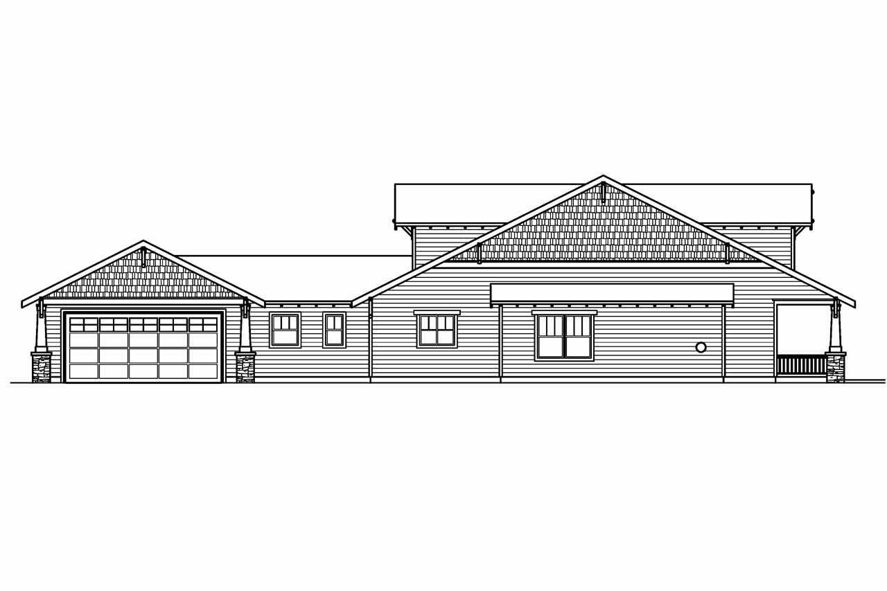 Craftsman house plans fairfield 30 583 associated designs for Bungalow plans and elevations