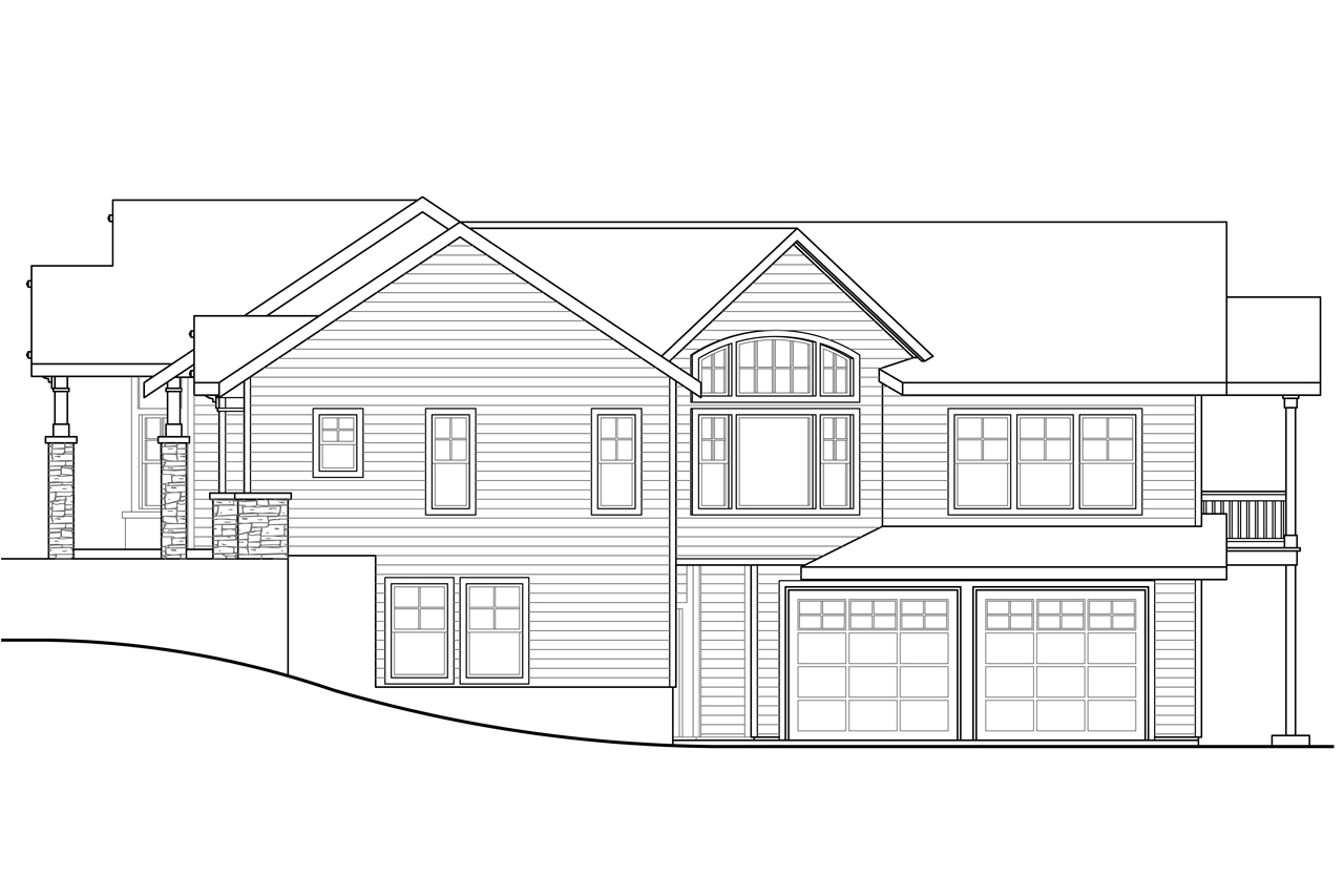 Bungalow Plan And Elevation : Craftsman house plans keystone associated designs