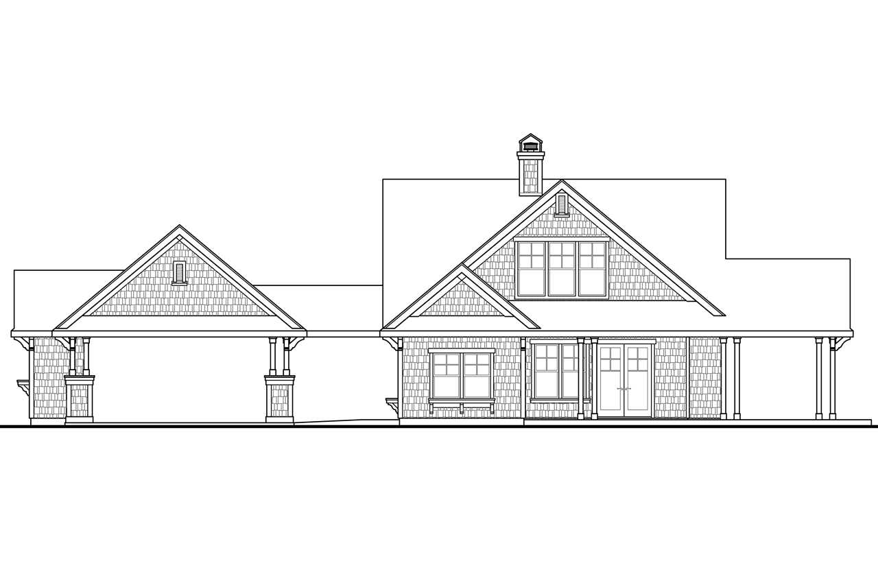 Houzz one story shingle style lake home joy studio for Single story cape cod house plans