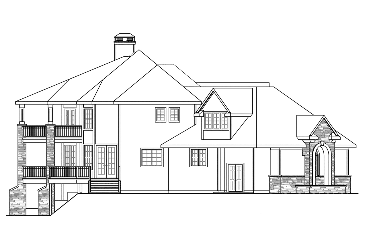 Tudor house plans addison 30 795 associated designs for Classic house elevation