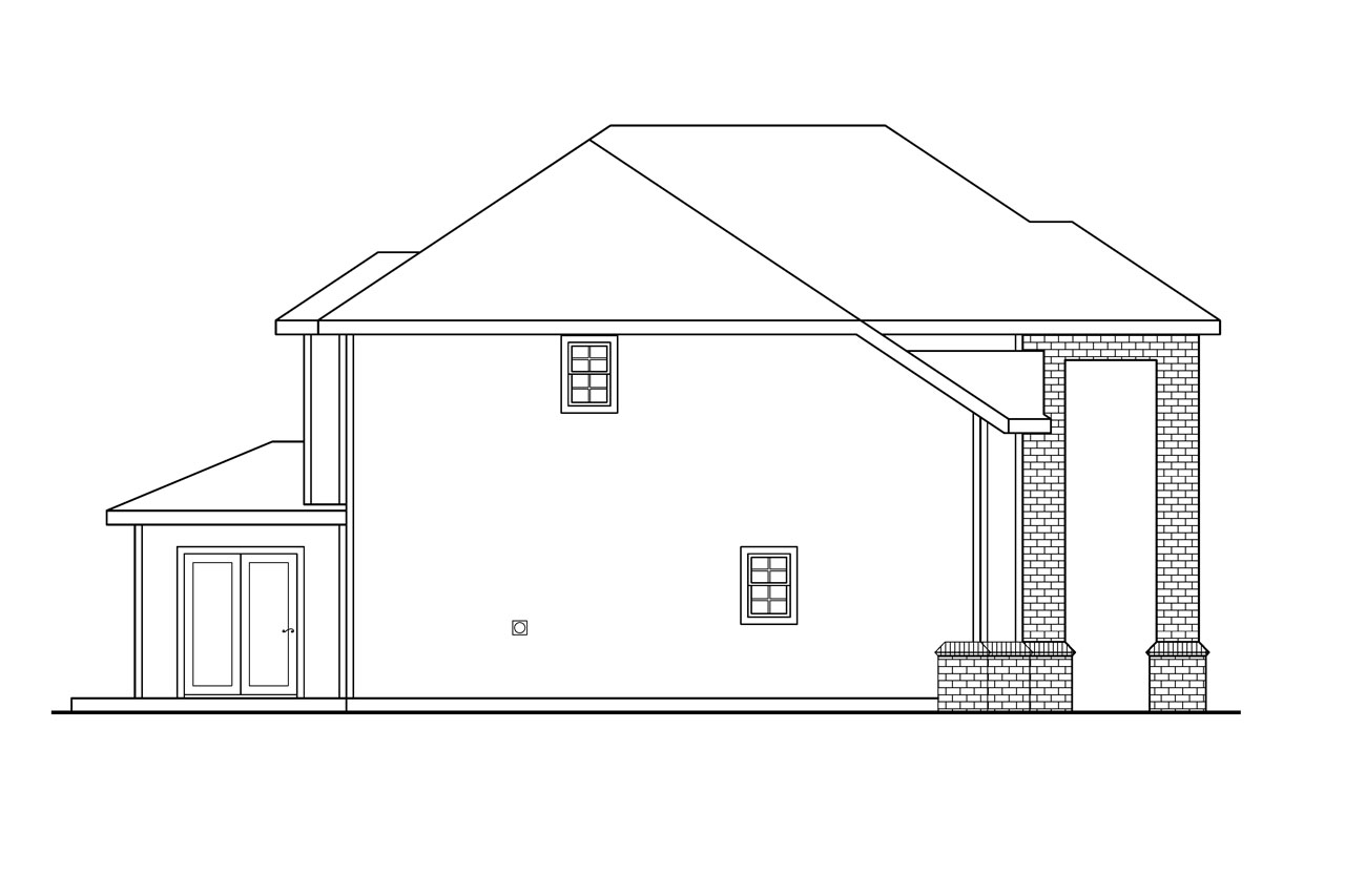 Traditional house plans arolee 30 142 associated designs for Classic house elevation