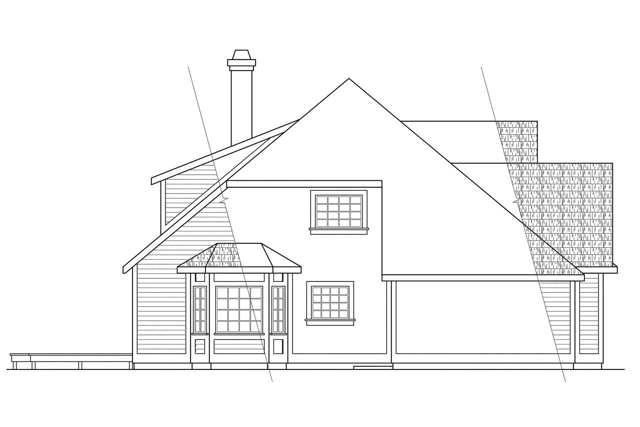 Traditional house plans berkley 10 032 associated designs for Classic house elevation