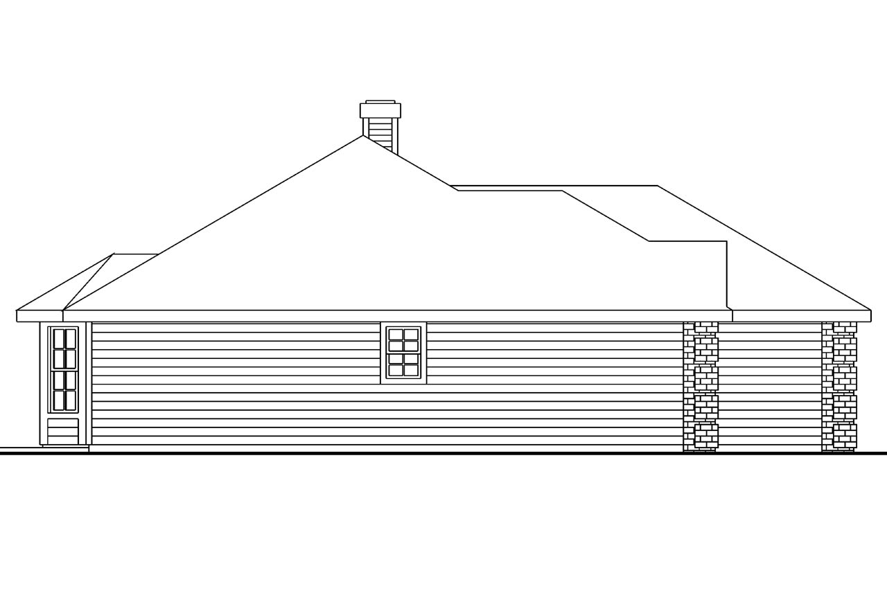 Ranch house plans bingsly 30 532 associated designs for Classic house elevation