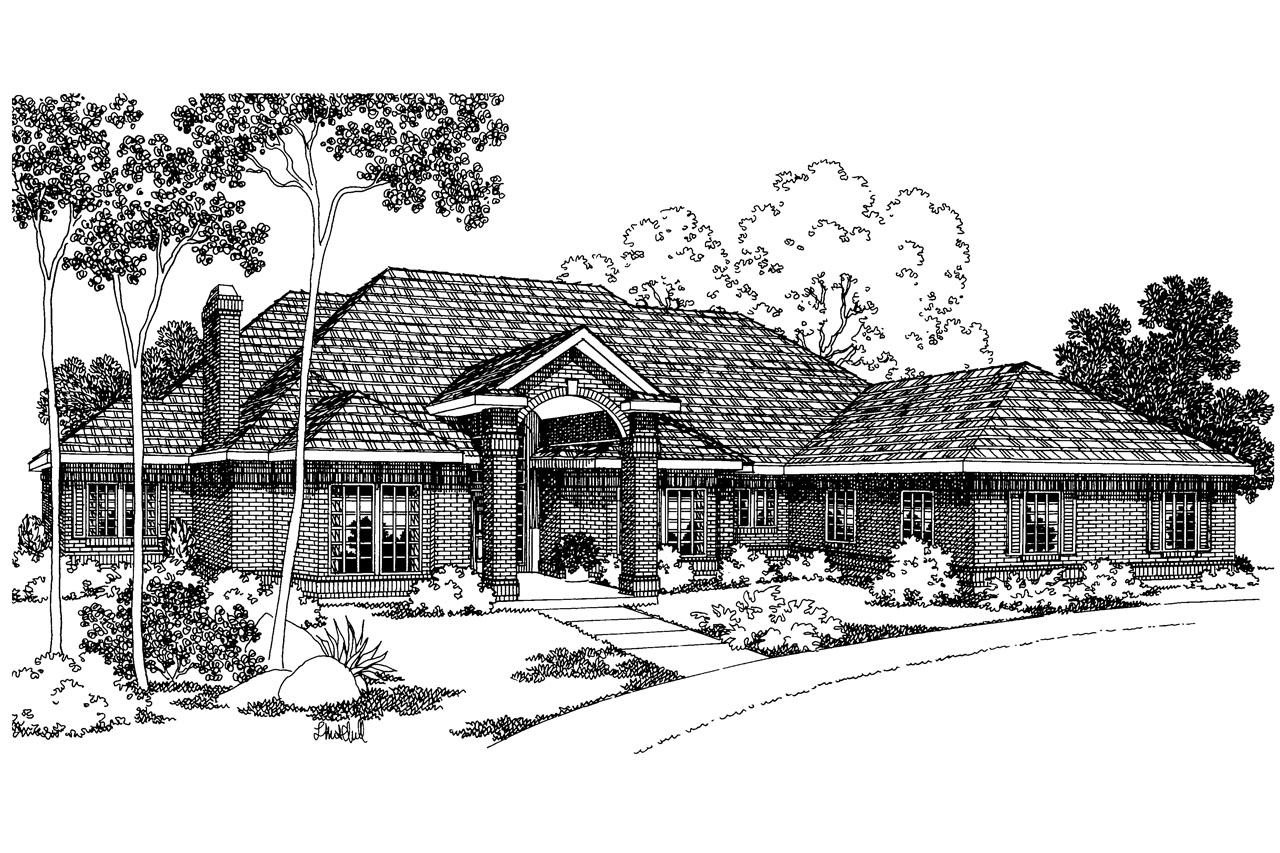 Classic house plans brentwood 30 007 associated designs for Classic house elevation