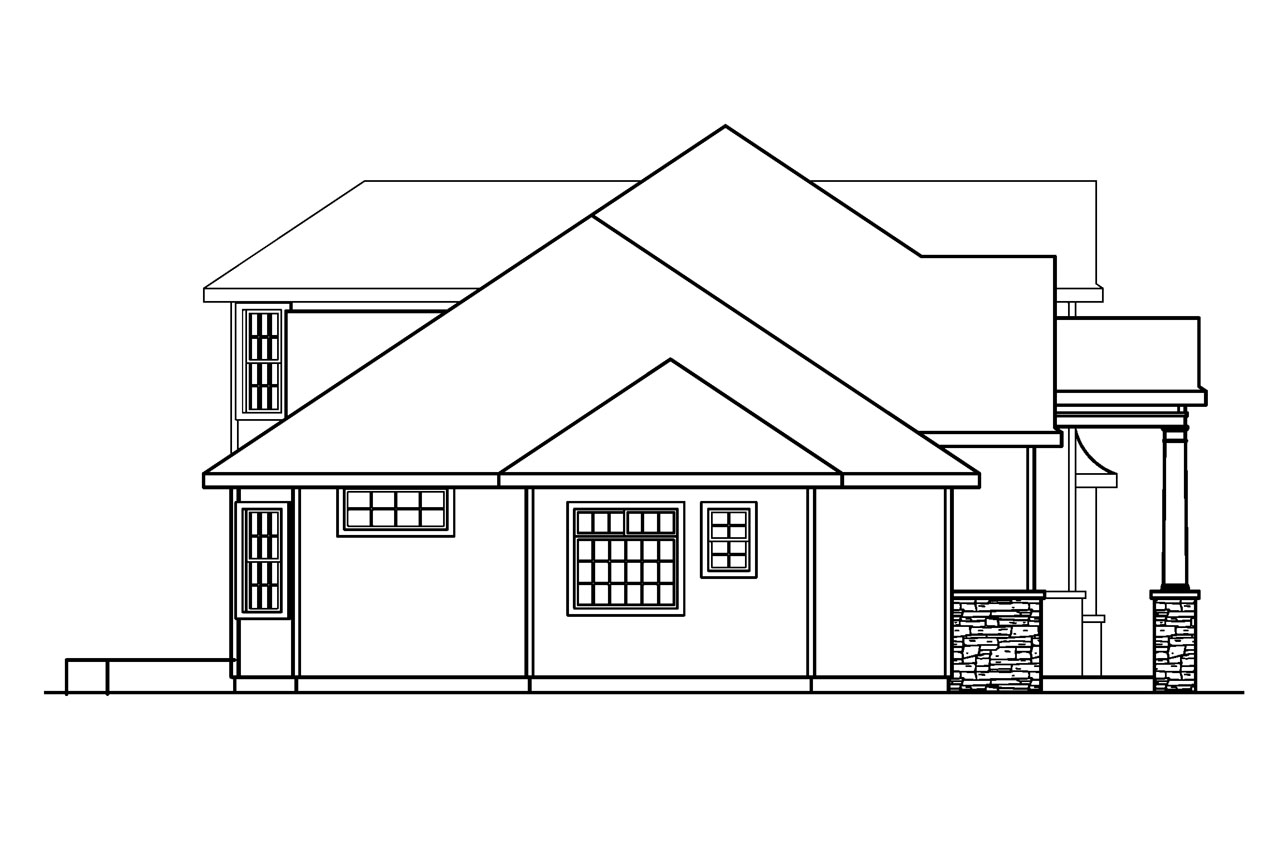 European house plans crestwick 30 425 associated designs for Classic house elevation
