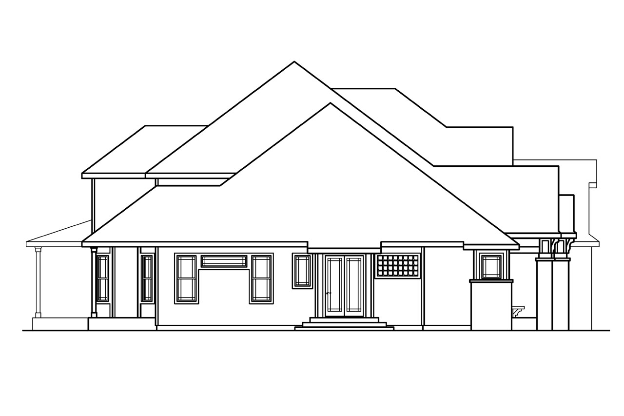 European house plans hastings 30 361 associated designs for Classic house elevation