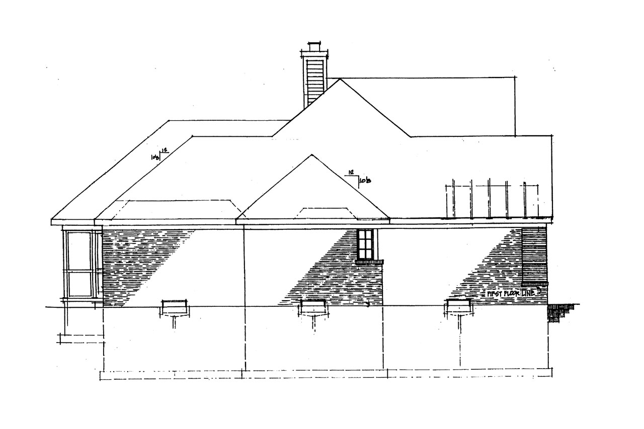 Georgian house plans ingraham 42 016 associated designs for Classic house elevation
